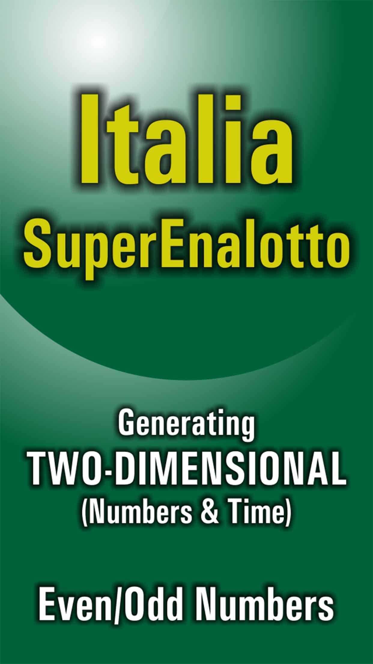 Italy superenalotto lottery strategies