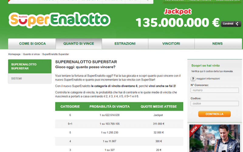 Italian superenalotto lottery - rules + instruction: how to buy a ticket from Russia
