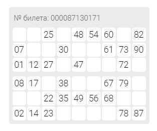 """Pelisäännöt """"Russian Lotto"""""""