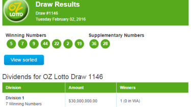 Oz lotto australia lottery results & game details