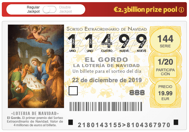 """Loterie espagnole """"el gordo de navidad"""""""