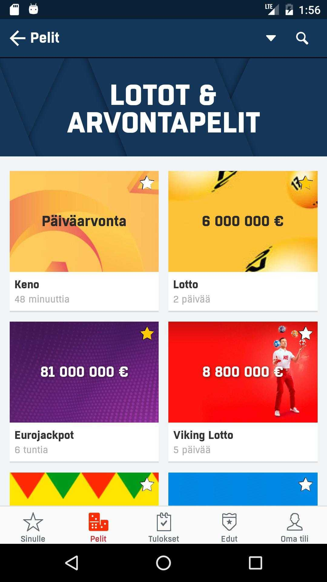 Loto lotto finlandês (7 do 40)