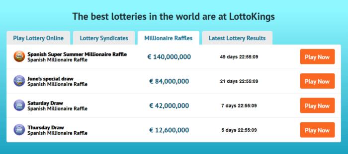 Spielen Sie Mega-Millionen-Lotterie online