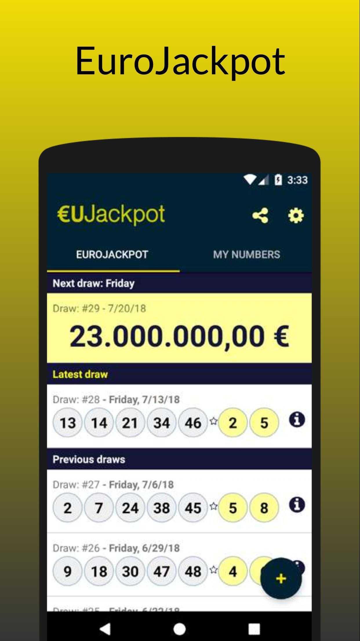 Eurojackpot Ergebnisse ›spätestens