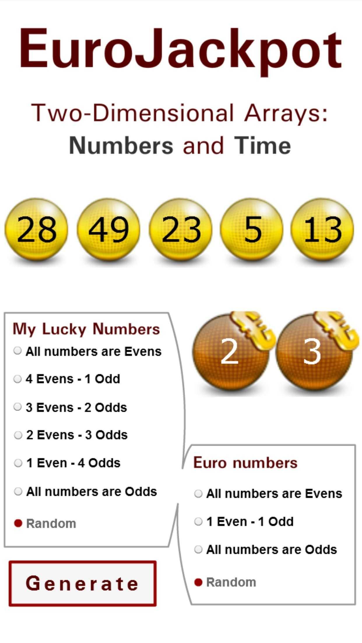 Výsledky losování Eurojackpot