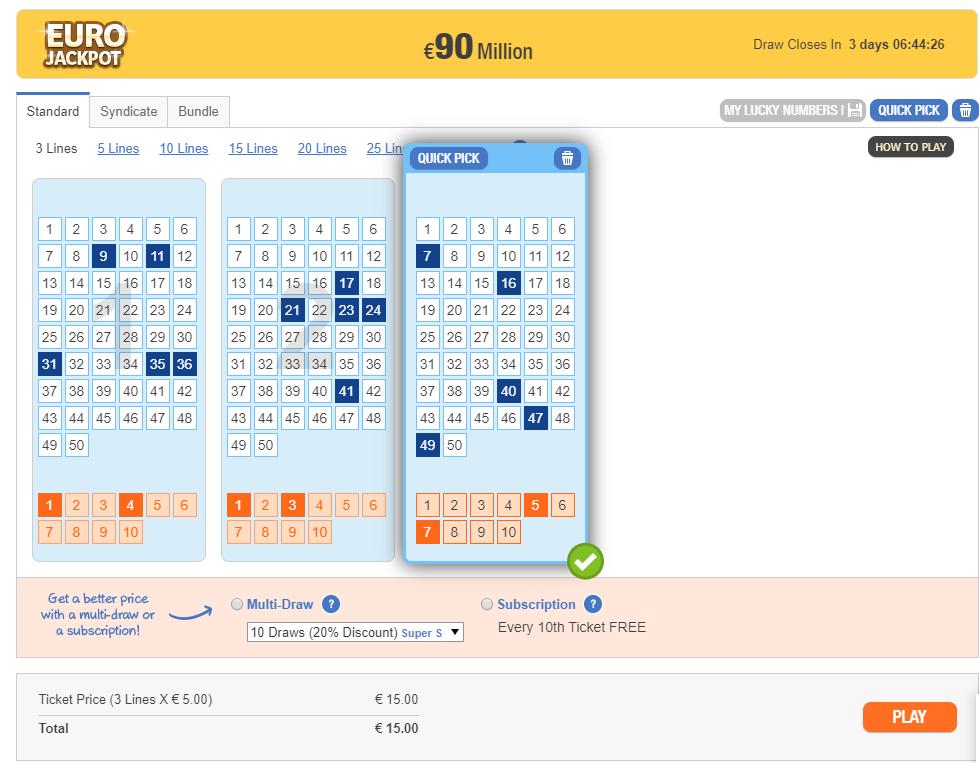Play eurojackpot online: prissammenligning på lotto.eu