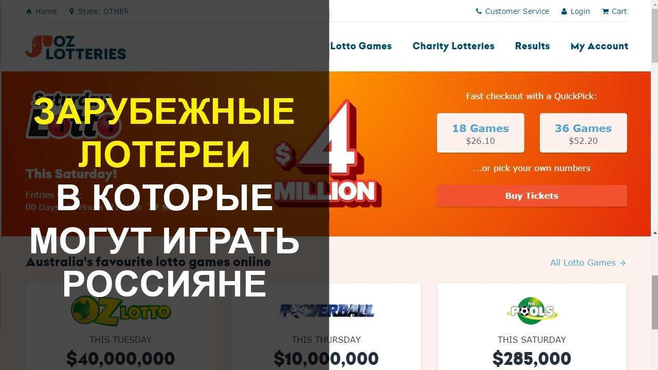 How to take part in the lottery drawing via the Internet. foreign and Russian lotteries.