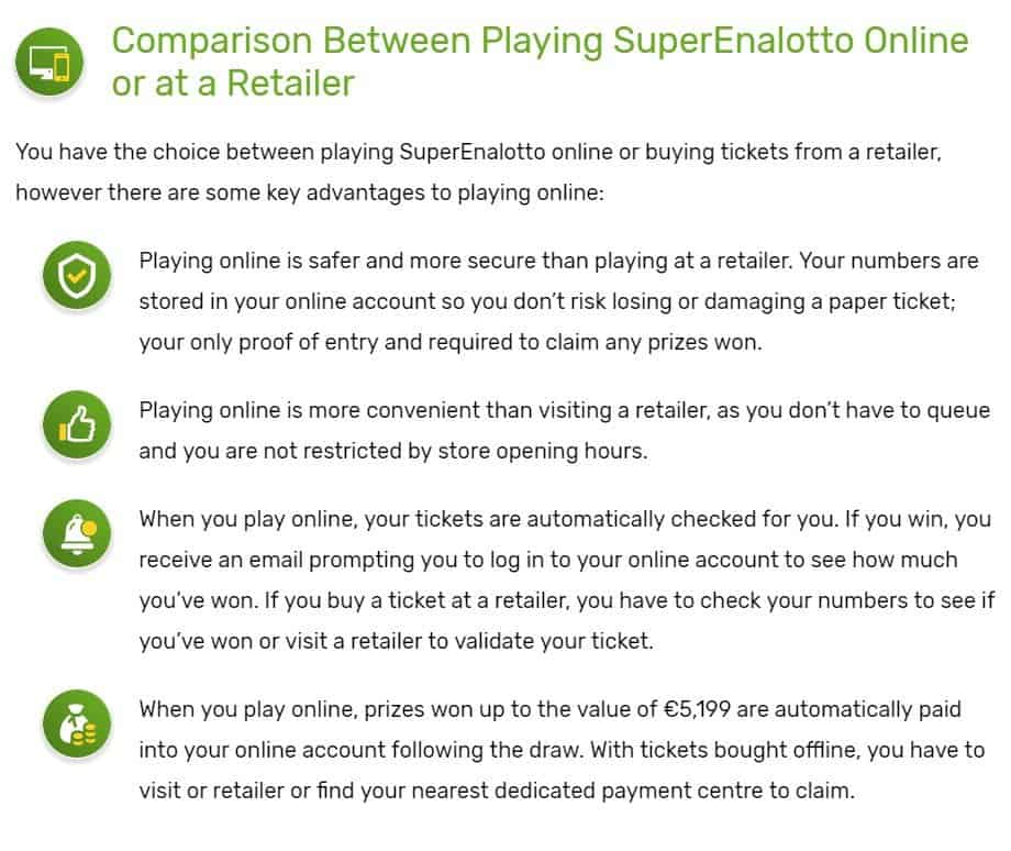 Italian national lottery superenalotto - how to play from russia | foreign lotteries