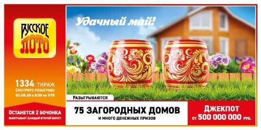 ตรวจสอบตั๋ว Russian Lotto | ผล 1345 การไหลเวียน
