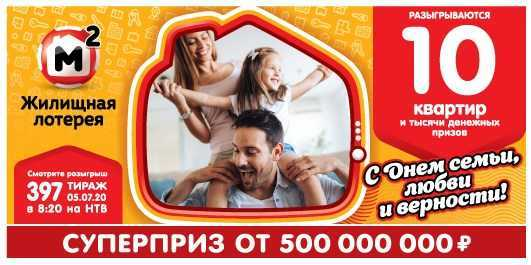 Check Housing Lottery Ticket 404 circulation | results from stoloto