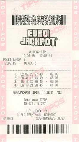 Eurojackpot loterii europejskiej