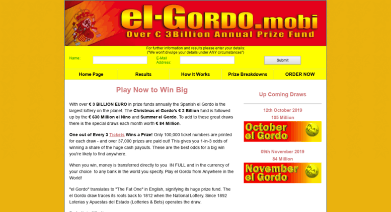 El gordo draw - news, results and information