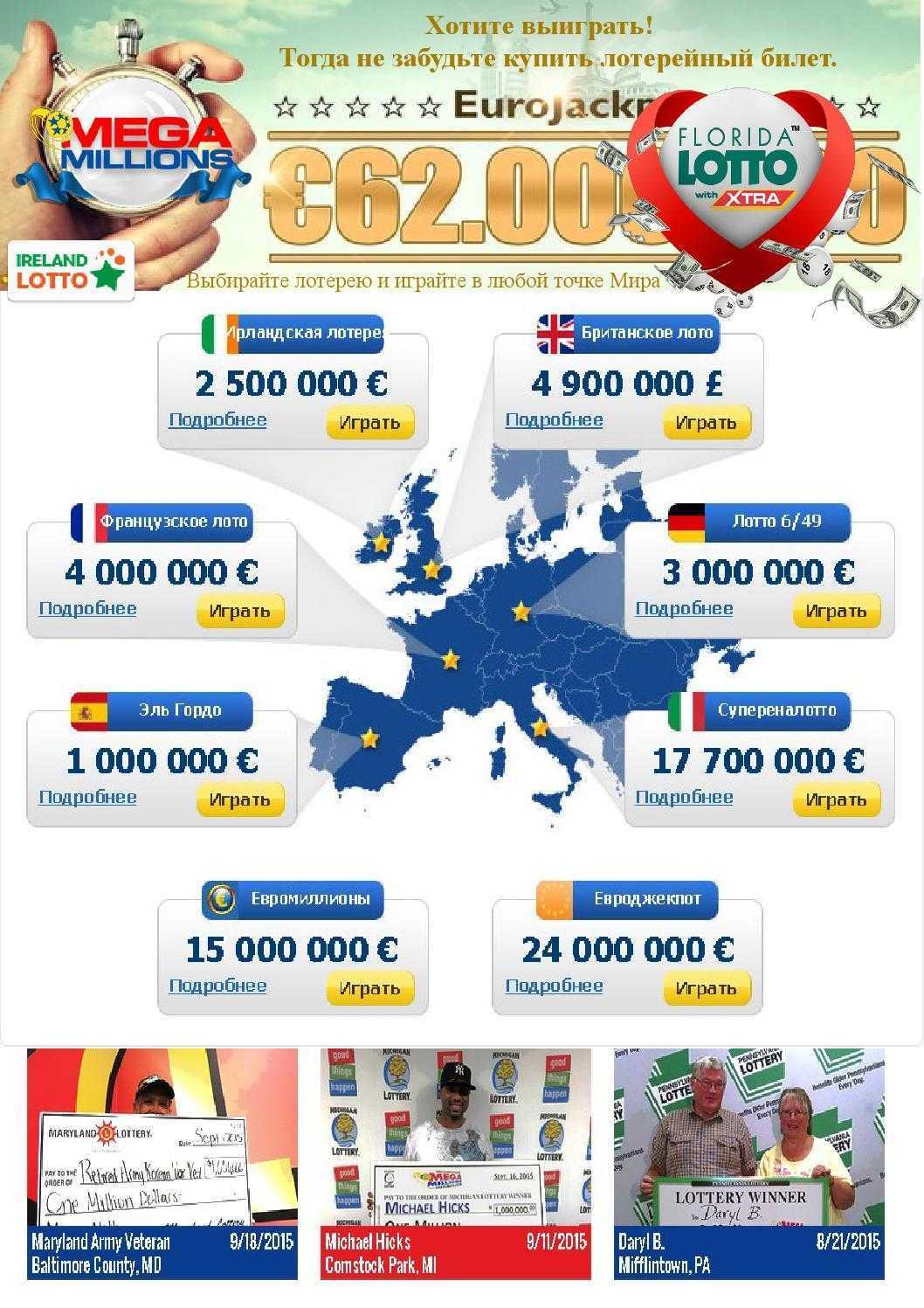 Archiv Lotterie Megamilliony für 2013 Jahr